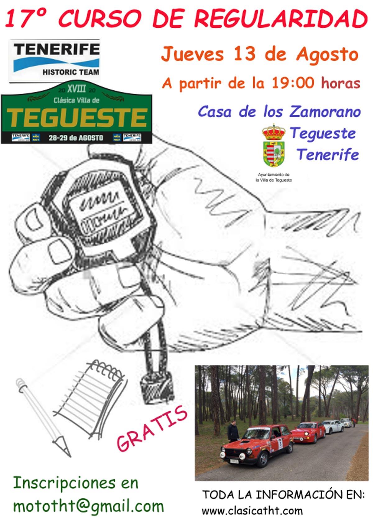 Curso iniciación a la regularidad en Tegueste