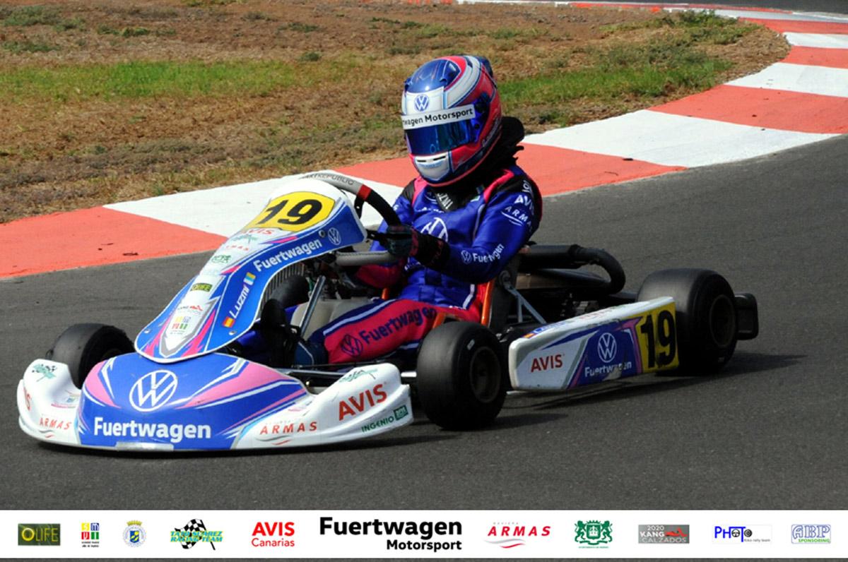 Nueva cita para Luzmi Santana en el Gran Karting Club Gran Canaria
