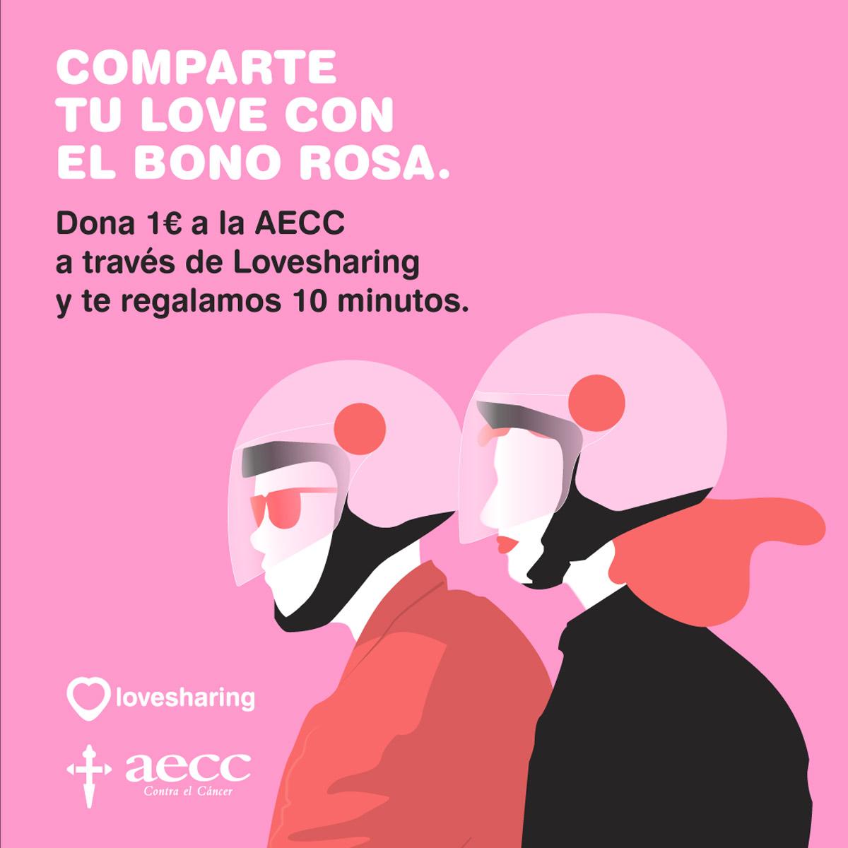 """La acción más """"Lovesharing"""" por la lucha contra el Cáncer de Mama"""