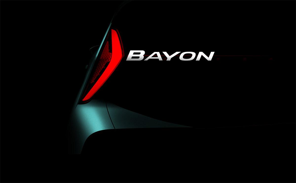 """Hyundai Motor anuncia el nombre de su nuevo SUV: """"Hyundai Bayon"""""""