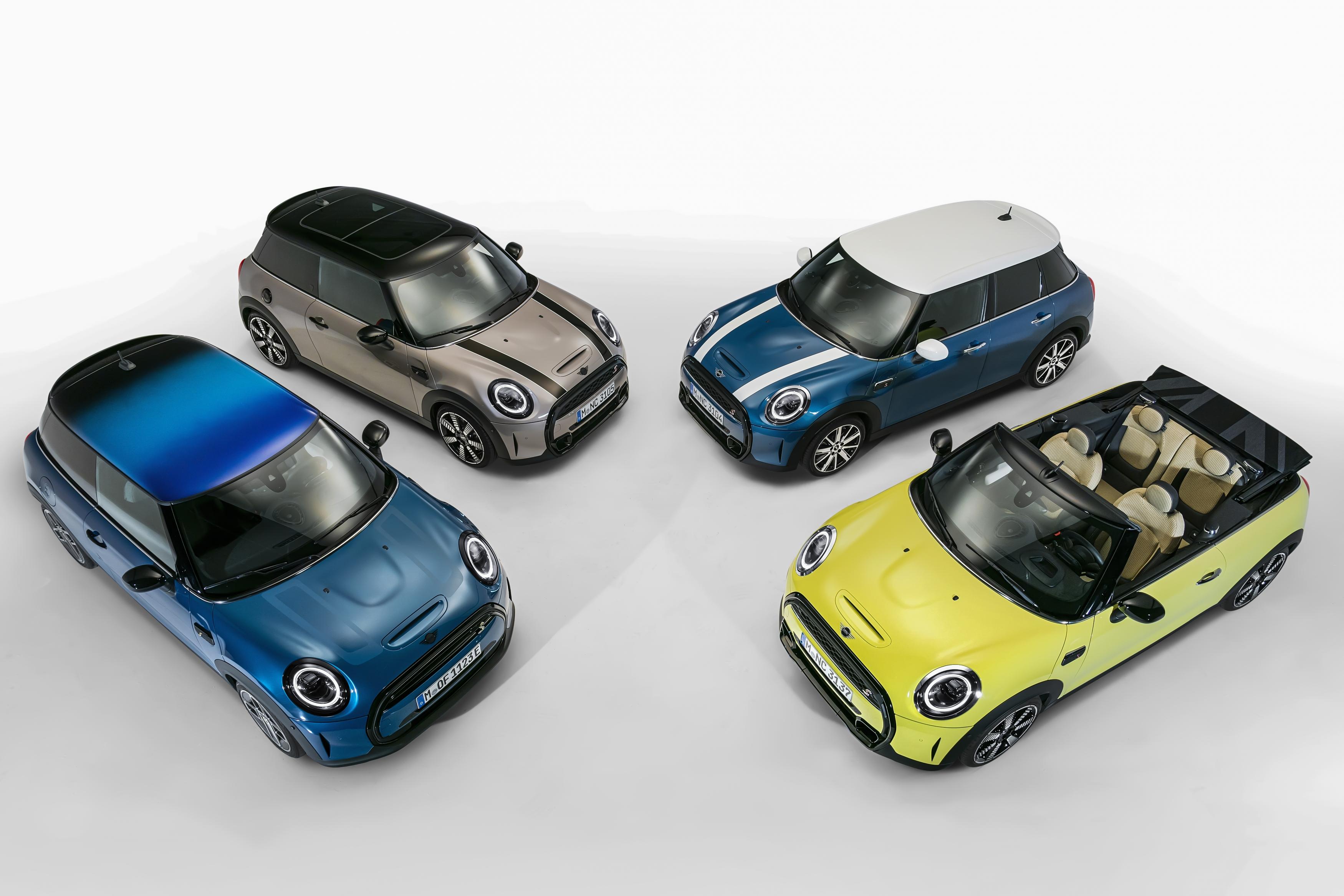 El original cada vez más moderno: MINI 3 puertas, el MINI 5 puertas y el MINI Cabrio