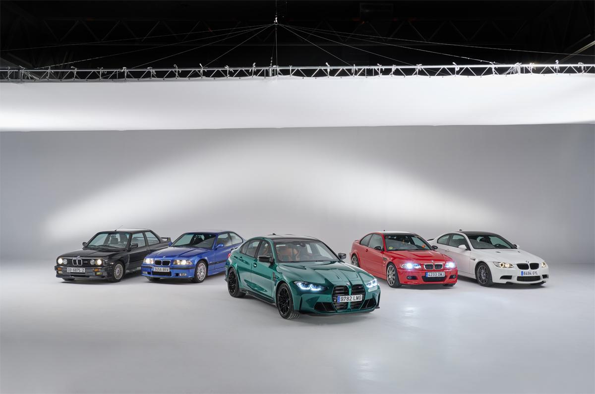 Las seis generaciones del BMW M3.