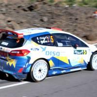 Rallye Villa de Adeje: Primer bucle; cinco pilotos en diez segundos