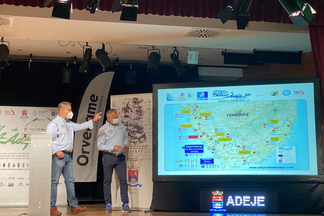 Adeje acogió la presentación del Rallye Villa de Adeje BP Tenerife Trofeo CICAR