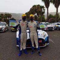 Enrique Cruz-Yeray Mujica, superiores con el Ford Fiesta en el Rallye Comarca Norte de Gran Canaria