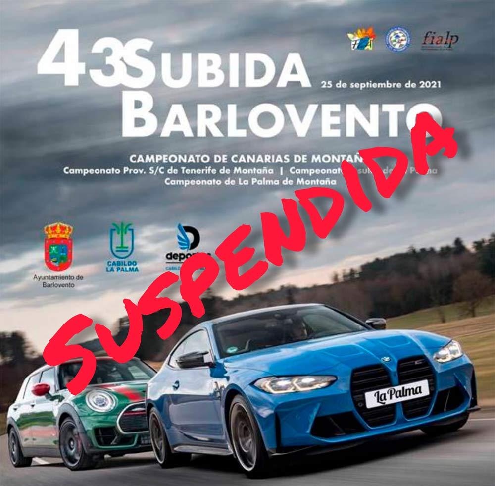 La Escudería La Palma Isla Bonita suspende la 43 Subida a Barlovento